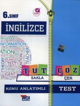 Açı Yayınları 6. Sınıf İngilizce Tut Sakla Konu Anlatımı Çek Çöz Test