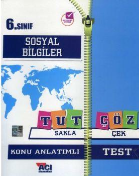 Açı Yayınları 6. Sınıf Sosyal Bilgiler Tut Sakla Konu Anlatımı Çek Çöz Test