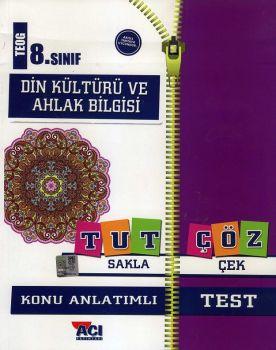Açı Yayınları 8. Sınıf TEOG Din Kültürü ve Ahlak Bilgisi Tut Sakla Konu Anlatımı Çek Çöz Test