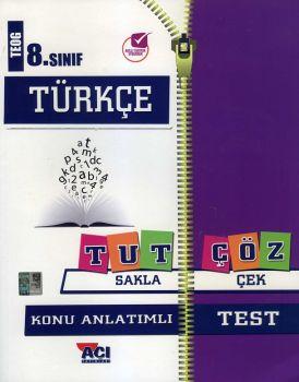 Açı Yayınları 8. Sınıf TEOG Türkçe Tut Sakla Konu Anlatımı Çek Çöz Test