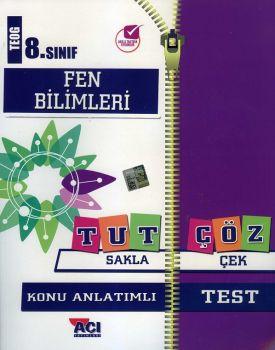 Açı Yayınları 8. Sınıf TEOG Fen Bilimleri Tut Sakla Konu Anlatımı Çek Çöz Test