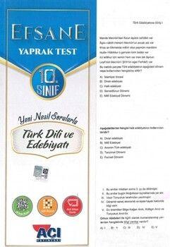 Açı Yayınları 10. Sınıf Türk Dili ve Edebiyatı Efsane Çek Kopart Yaprak Test