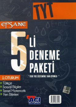 Açı Yayınları YKS 1. Oturum TYT EFSANE 5 li Deneme Seti