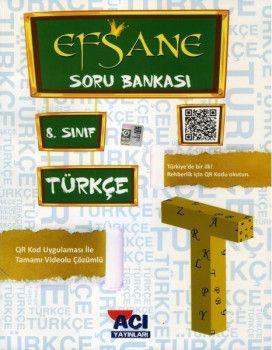 Açı Yayınları 8. Sınıf LGS Türkçe EFSANE Soru Bankası