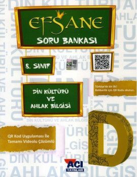 Açı Yayınları 8. Sınıf LGS Din kültürü ve Ahlak Bilgisi EFSANE Soru Bankası