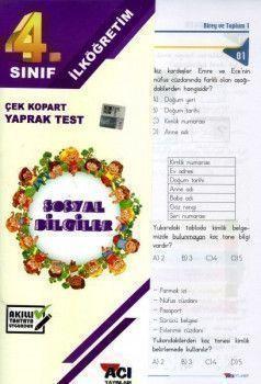 Açı Yayınları 4. Sınıf Sosyal Bilgiler Çek Kopart Yaprak Test