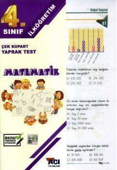 Açı Yayınları 4. Sınıf Matematik Çek Kopart Yaprak Test