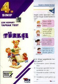 Açı Yayınları 4. Sınıf Türkçe Çek Kopart Yaprak Test