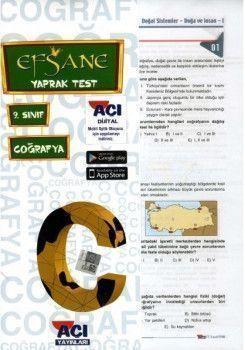 Açı Yayınları 9. Sınıf EFSANE Coğrafya Çek Kopart Yaprak Test