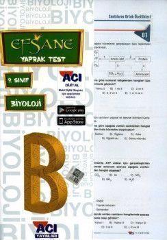 Açı Yayınları 9. Sınıf EFSANE Biyoloji Çek Kopart Yaprak Test