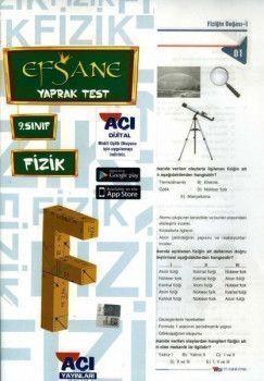 Açı Yayınları 9. Sınıf EFSANE Fizik Çek Kopart Yaprak Test
