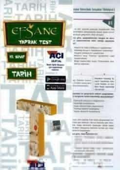 Açı Yayınları 10. Sınıf EFSANE Tarih Çek Kopart Yaprak Test
