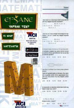 Açı Yayınları 10. Sınıf EFSANE Matematik Çek Kopart Yaprak Test