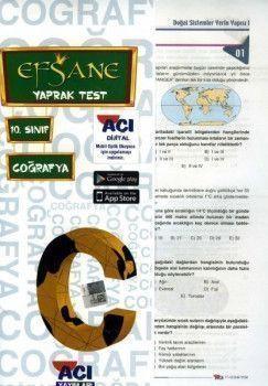 Açı Yayınları 10. Sınıf EFSANE Coğrafya Çek Kopart Yaprak Test