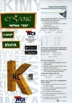 Açı Yayınları 11.Sınıf EFSANE Kimya Çek Kopart Yaprak Test