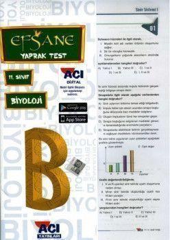 Açı Yayınları 11.Sınıf EFSANE Biyoloji Çek Kopart Yaprak Test