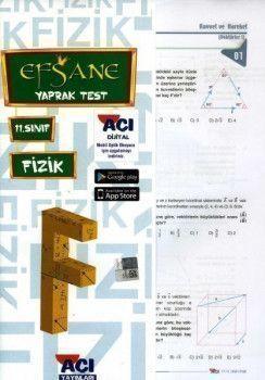 Açı Yayınları 11.Sınıf EFSANE Fizik Çek Kopart Yaprak Test