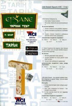 Açı Yayınları 11.Sınıf EFSANE Tarih Çek Kopart Yaprak Test