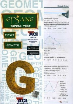 Açı Yayınları TYT AYT Geometri EFSANE Çek Kopart Yaprak Test