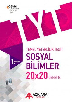 Açık Ara Yayınları YKS 1. Oturum TYT Sosyal Bilimler  Deneme 20X20