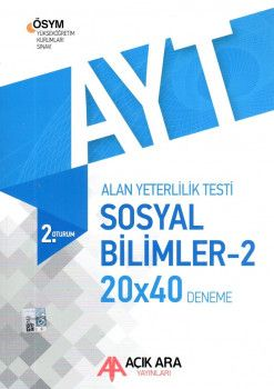 Açık Ara Yayınları YKS 2. Oturum AYT Sosyal Bilimler 2 Deneme 20x40