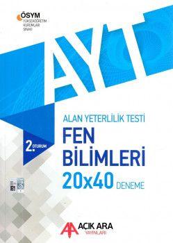 Açık Ara Yayınları YKS 2. Oturum AYT Fen Bilimleri Deneme 20x40