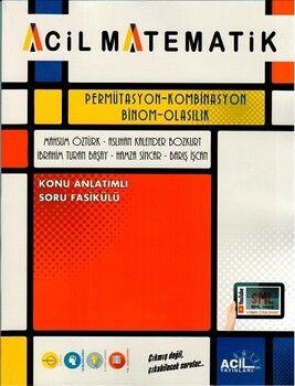 Acil Matematik Permütasyon Kombinasyon Binom Olasılık