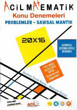 Acil Yayınları Acil Matematik Problemler Sayısal Mantık Konu Denemeleri