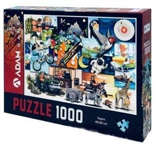 Adam Games Yaşam 1000 Parça Puzzle 48 x 68