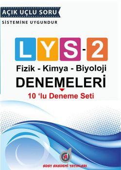Aday Akademi LYS 2 Fizik Kimya Biyoloji 10 lu Deneme Seti