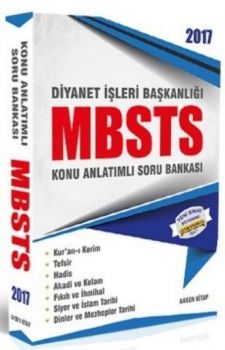 Ahsen Kitap 2017 Diyanet İşleri Başkanlığı MBSTS Konu Anlatımlı Soru Bankası