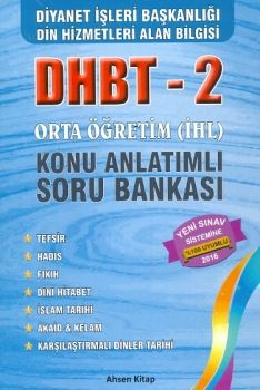 Ahsen Kitap Yayınları 2016 DHBT 2 Orta Öğretim Konu Anlatımlı Soru Bankası