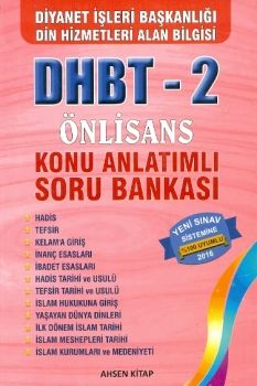 Ahsen Kitap Yayınları 2016 DHBT 2 Önlisans Konu Anlatımlı Soru Bankası