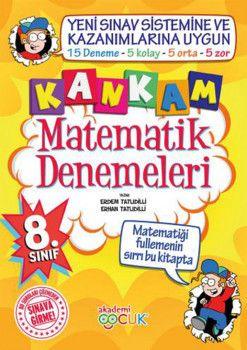 Akademi Çocuk Yayınları 8. Sınıf Kankam Matematik 15 Deneme