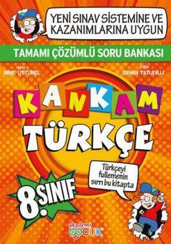 Akademi Çocuk Yayınları 8. Sınıf Kankam Türkçe Tamamı Çözümlü Soru Bankası
