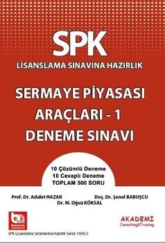 Akademi Eğitim SPK Sermaye Piyasası Araçları 1 Deneme Sınavı