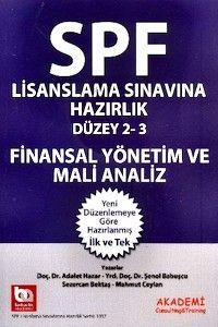 Akademi Yayınları SPF Lisanslama Sınavlarına Hazırlık Finansal Yönetim ve Mali Analiz