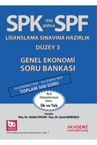Akademi Yayınları SPK SPF Lisanslama Sınavlarına Hazırlık Düzey 3 Genel Ekonomi Soru Bankası