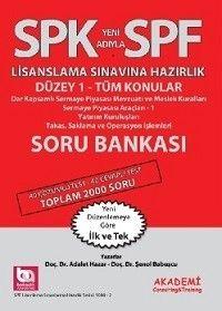 Akademi Yayınları SPK SPF Lisanslama Sınavlarına Hazırlık Düzey 1 Tüm Konular Soru Bankası