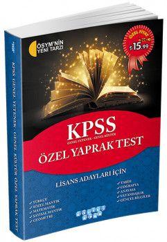 Akıllı Adam KPSS Genel Yetenek Genel Kültür Özel Yaprak Test