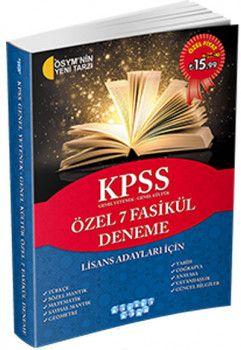 Akıllı Adam KPSS Genel Yetenek Genel Kültür Özel 7 Fasikül Deneme
