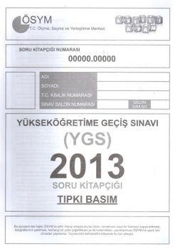 Akıllı Adam Yayınları YGS 2013 Tıpkı Basım Soru Kitapçığı