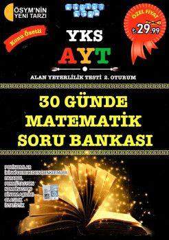 Akıllı Adam Yayınları YKS 2. Oturum AYT 30 Günde Matematik Konu Özetli Soru Bankası