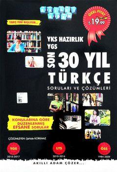 Akıllı Adam Yayınları YKS Hazırlık Son 30 Yıl Türkçe Soruları ve Çözümleri