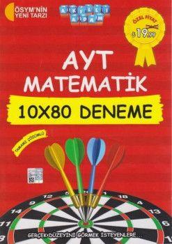 Akıllı Adam Yayınları YKS 2. Oturum AYT Matematik Tamamı Çözümlü 10x80 Deneme