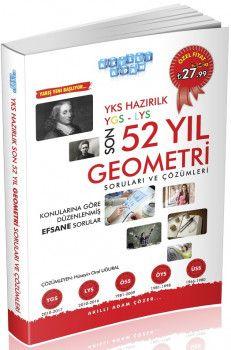 Akıllı Adam YKS 1. ve 2. Oturum Geometri Son 52 Yıl Çıkmış Sorular ve Çözümleri