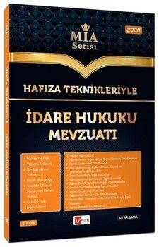 Akfon Yayınları Hafıza Teknikleriyle İdare Hukuku Mevzuatı MİA Serisi Ali Argama