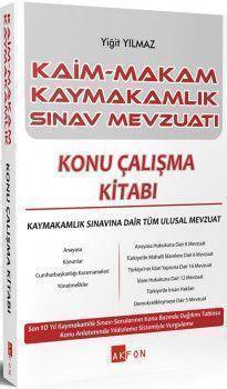 Akfon Yayınları Kaim Makam Kaymakam Sınav Mevzuatı Konu Çalışma Kitabı