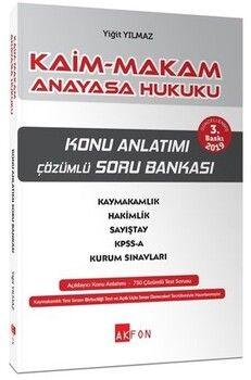 Akfon Yayınları Kaim Makam Anayasa Hukuku Konu Özetli Soru Bankası 3. Baskı