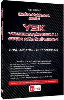 Akfon Yayınları Kaim Makam YSK Şeçim Müdürlüğü Sınavı Konu Anlatımlı Test Soruları